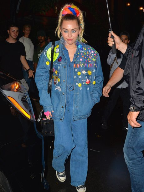 Miley Cyrus Double Denim