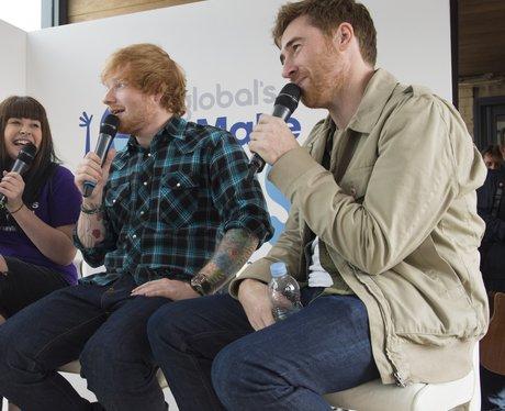 Emma Willis, Stephen Mulhern and Ed Sheeran Global