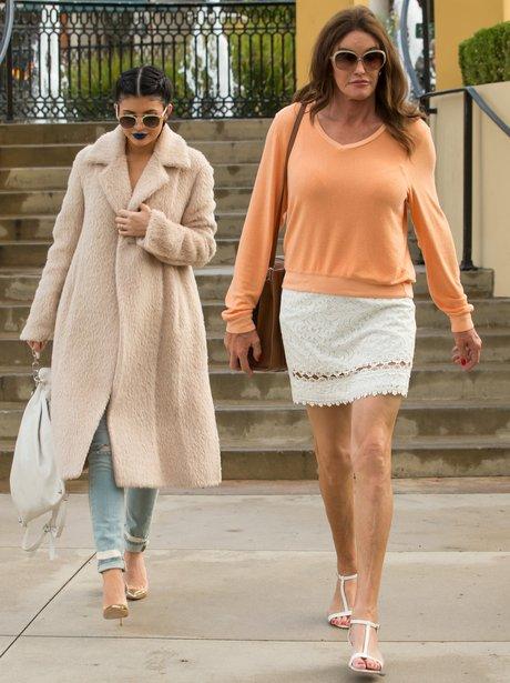 Kylie and Caitlin Jenner