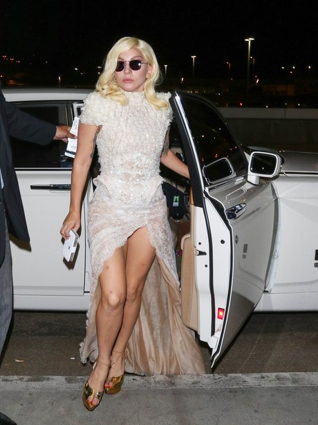 Lady Gaga Lace Dress
