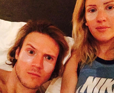 Ellie Goulding and Dougie Poynter Facemask