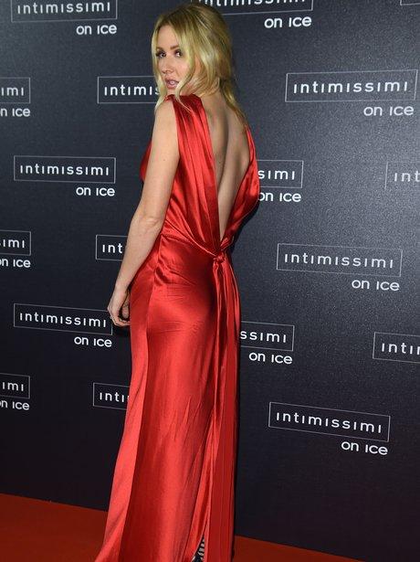 Ellie Goulding in a red dress