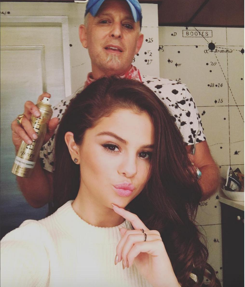 Selena Gomez getting ready