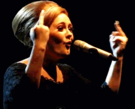 Adele Swearing GIF