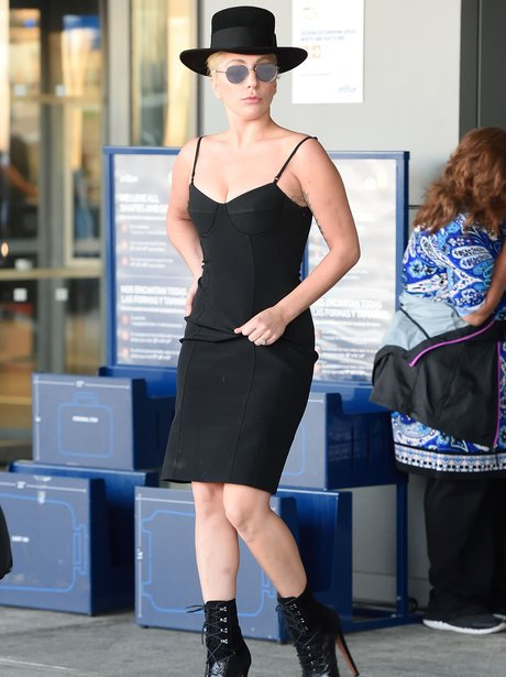 Lady Gaga Black Dress