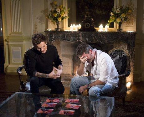 Louis Tomlinson and Simon Cowell