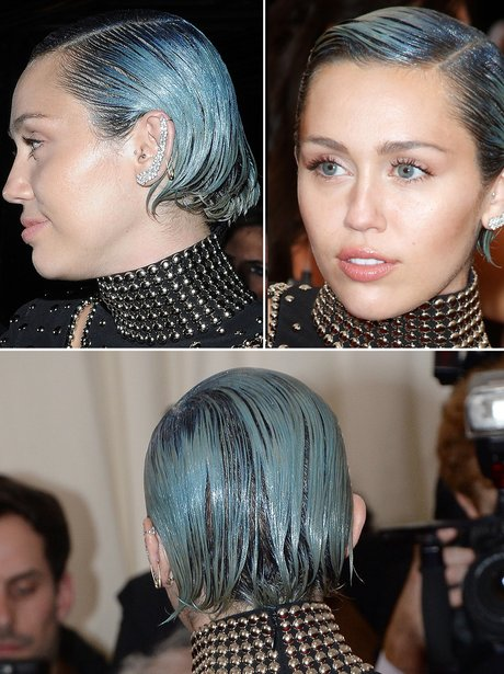 Miley Grey/Blue Hair Met Ball