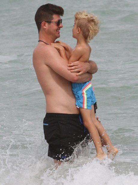 Robin Thicke and son Julian Fuego Thicke