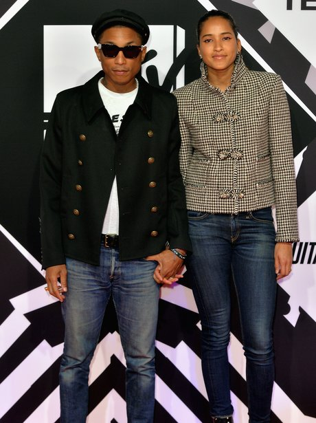 Pharrel Williams and Helen Lasichanh MTV EMA's 20