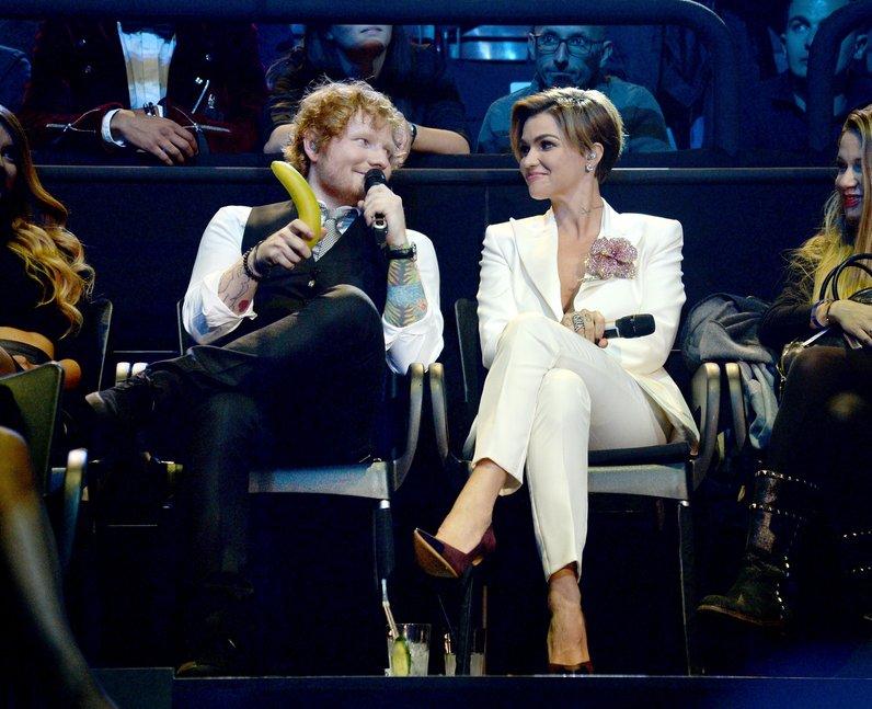 Ed Sheeran and Ruby Rose MTV EMA's 2015