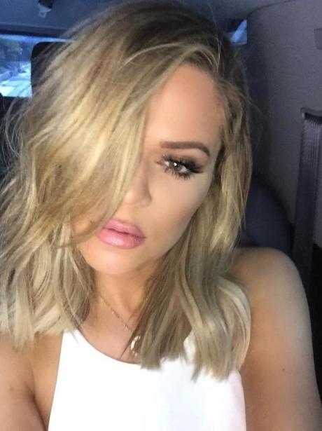 khloe kardashian hair short blonde instagram