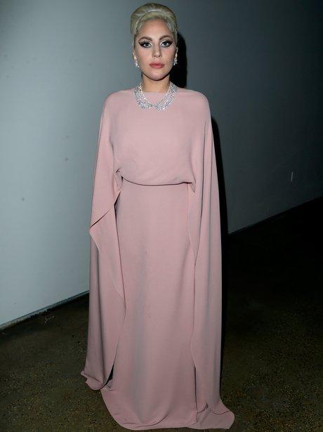 Lady Gaga attends amfAR's Inspiration Gala LA
