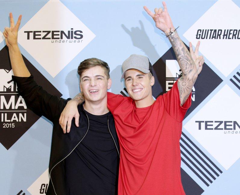 Martin Garrix and Justin Bieber MTV EMA's 2015