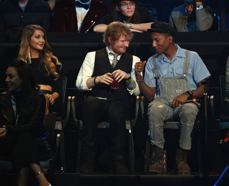 Pharrell and Ed Sheeran MTV EMA's 2015 Live