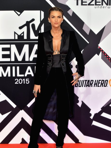 Ruby Rose MTV EMA's 2015 Red Carpet