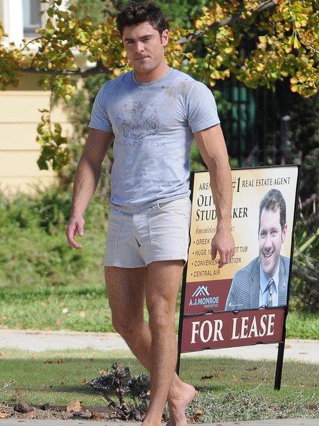 Zac Efron On Set Bad Neighbours 2