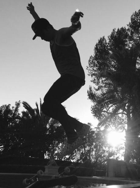 Brooklyn Beckham Skateboarding