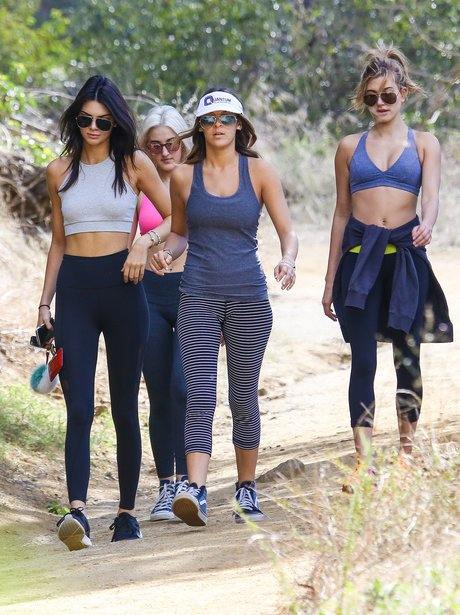 Kendall Jenner and Hailey Baldwin Hiking