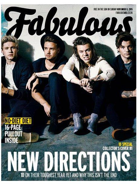 One Direction Fabulous Magazine 2015