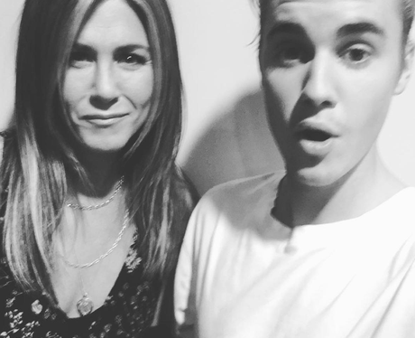 Jennifer Anniston and Justin Bieber