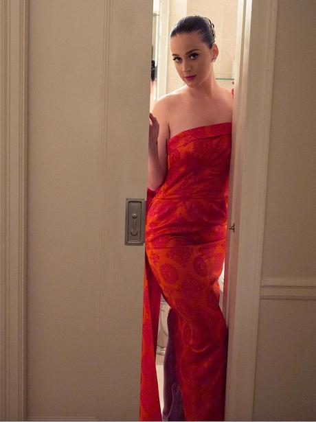 Katy perry red dress instagram