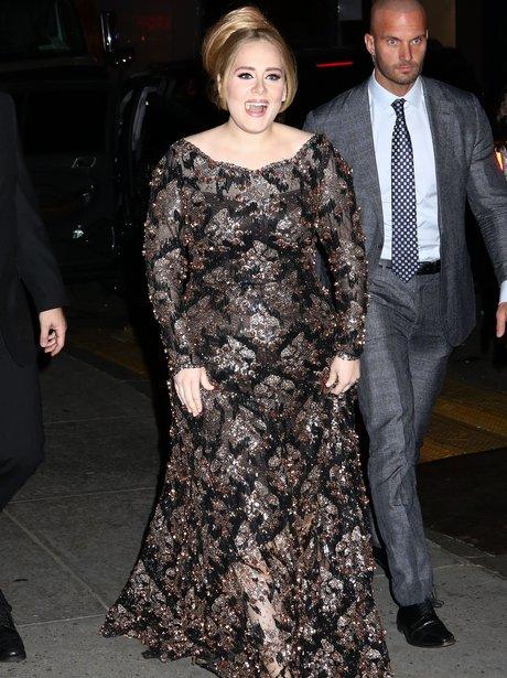 Adele greets fans