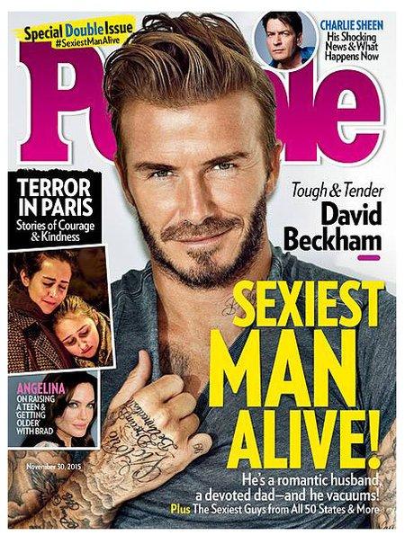 David Beckham People Magazine 2015
