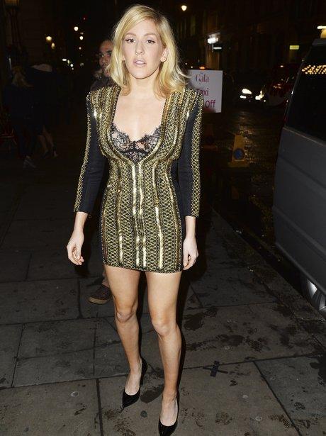 Ellie Goulding Low Cut Dress
