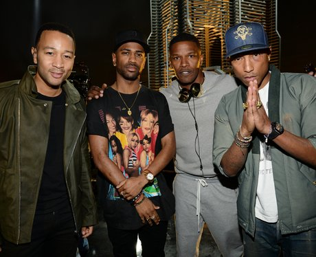 John Legend, Big Sean, Jamie Foxx and Pharrell Wil