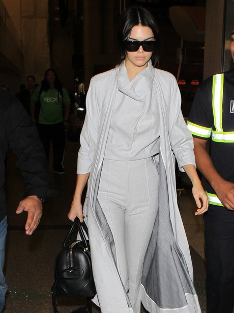 Kendall Jenner Grey Outfit Airport