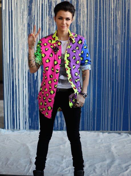 Ruby Rose Fashion Week 2012