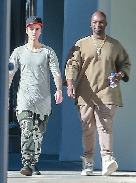 Justin Bieber and Corey Gamble