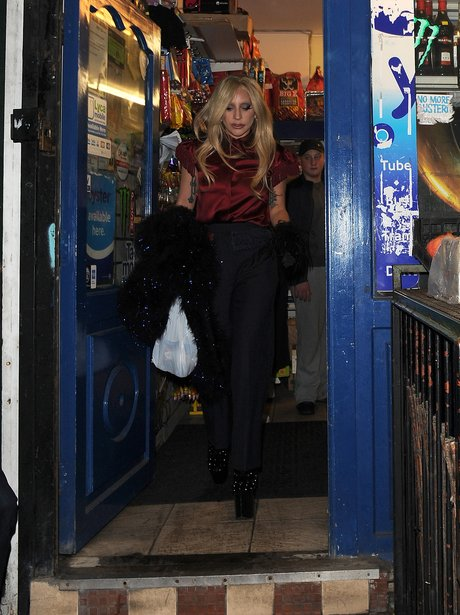 Lady Gaga shopping in Camden