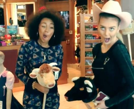 Leigh-Anne and Perrie As Cowgirls