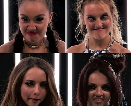 Little Mix Pulling Funny Faces
