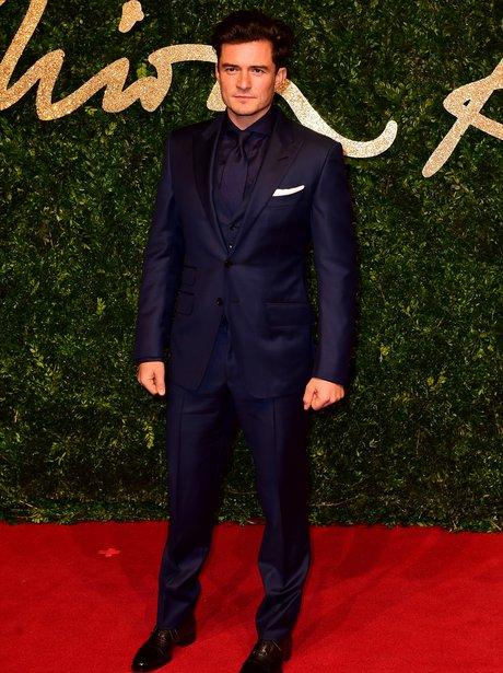 Orlando Bloom British Fashion Awards 2015