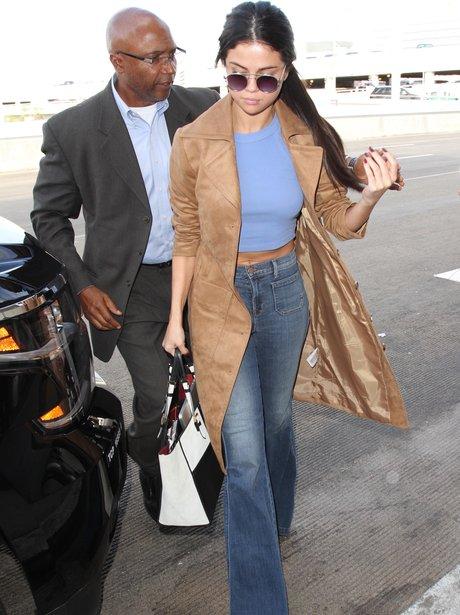Selena Gomez wearing flares in LA
