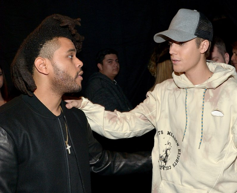 The Weeknd and Justin Bieber American Music Awards