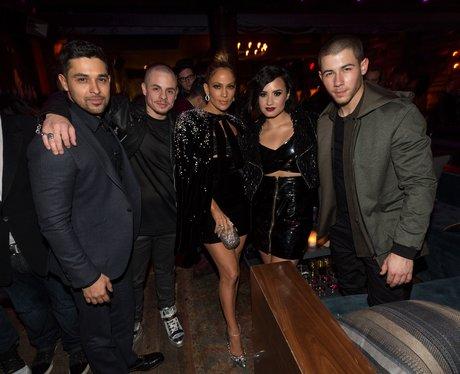 Wilmer Valderrama, Casper Smart, Demi Lovato and N