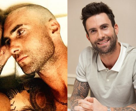 Adam Levine shaved head