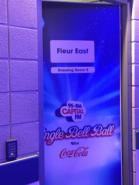 Backstage at the Jingle Bell Ball 2015