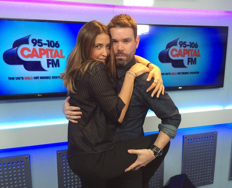 Dave Berry & Lisa Snowdon backstage at the Jingle