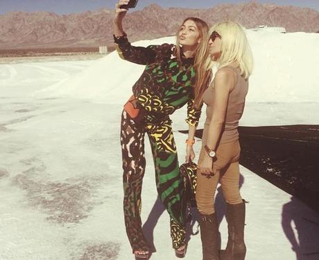 GiGi Hadid Donatella Versace Instagram