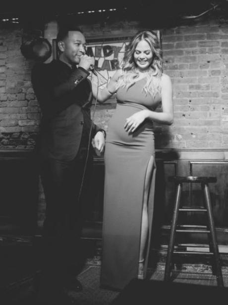 John Legend sings Happy Birthday to Chrissy Teigen