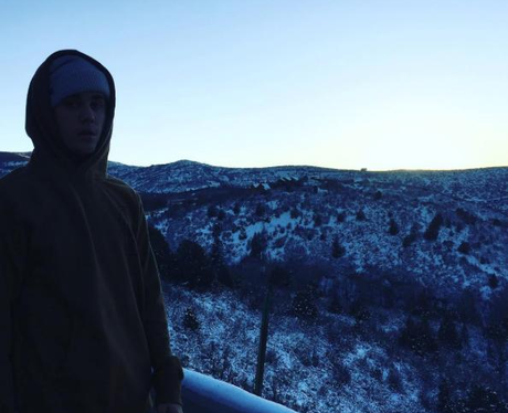 Justin Bieber Winter Holiday Instagram