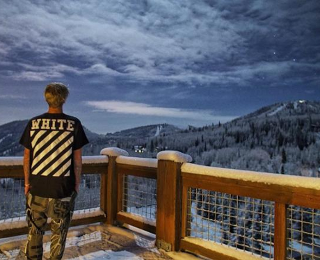 Justin Bieber Winter Holiday Instagram