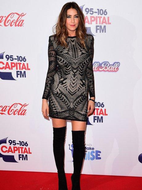 Lisa Snowdon Red Carpet Jingle Bell Ball 2015