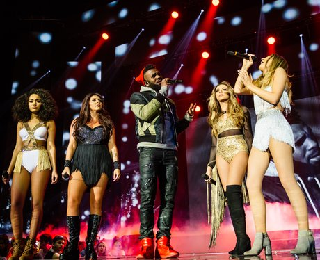 Little Mix and Jason Derulo at the Jingle Bell Bal