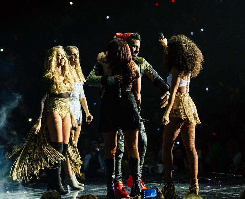 Little Mix and Jason Derulo Jingle Bell Ball 2015