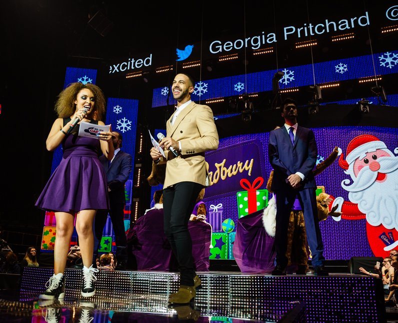 Marvin and Pandora at the Jingle Bell Ball